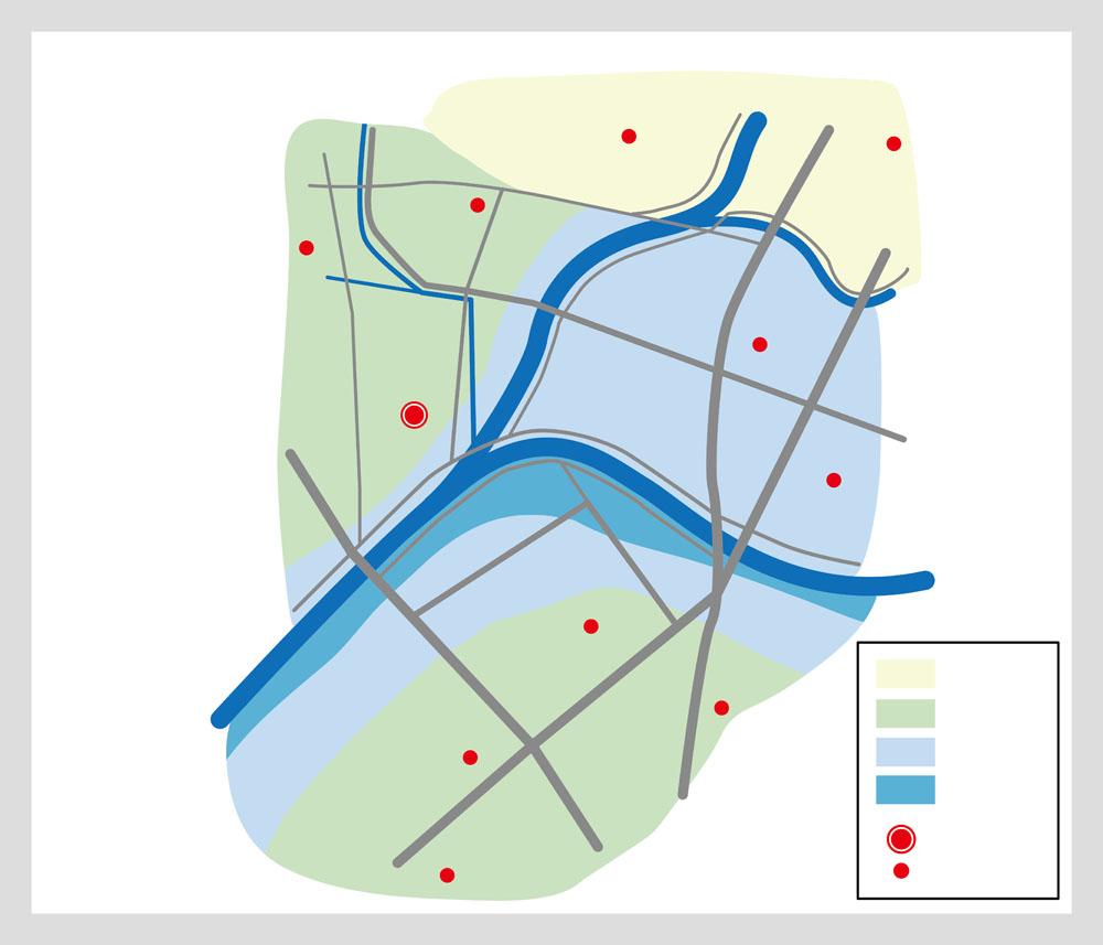 避難場所地図のイメージ画像